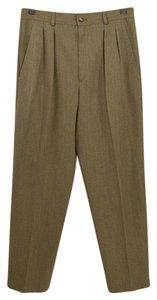 Saint Laurent Fall Winter Suit Office Vintage Trouser Pants TAN