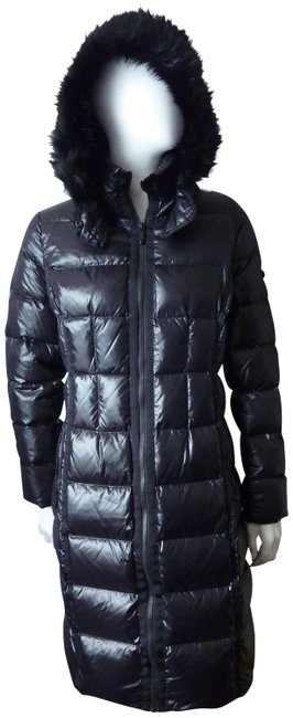 Item - Black Down Puffer Quilted Faux Fur Hood Coat Size 2 (XS)