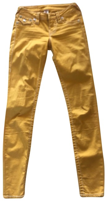 Item - Yellow and White Skinny Jeans Size 00 (XXS, 24)