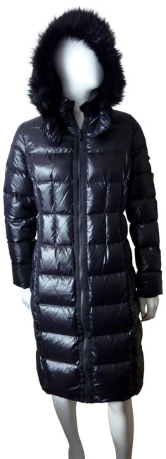 Item - Black Down Puffer Quilted Faux Fur Hood Coat Size 4 (S)