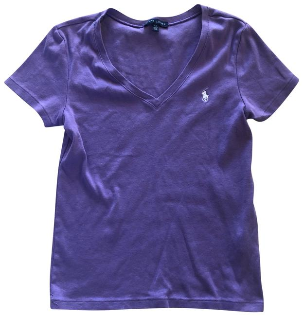 Item - Purple V Neck Polo Sleeves Soft Tee Shirt Size 12 (L)