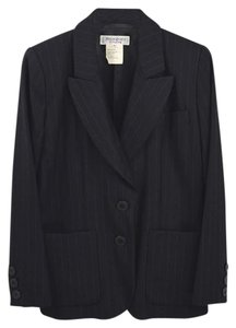 Saint Laurent Pinstripe Winter Fall Vintage BLACK Blazer