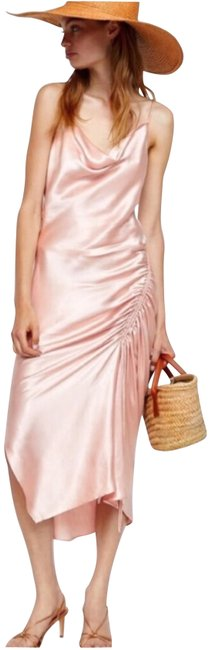 Item - Pink Draped Lingerie Style Mid-length Night Out Dress Size 8 (M)
