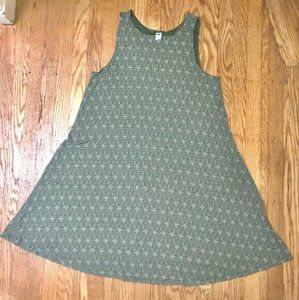 Old Navy short dress green and white on Tradesy
