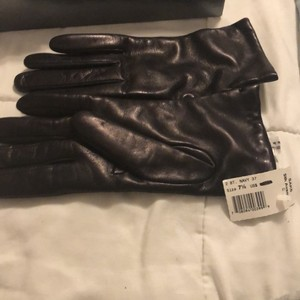 Saks Fifth Avenue cashmere leather gloves