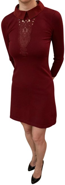 Item - Red Sweater Short Work/Office Dress Size 2 (XS)