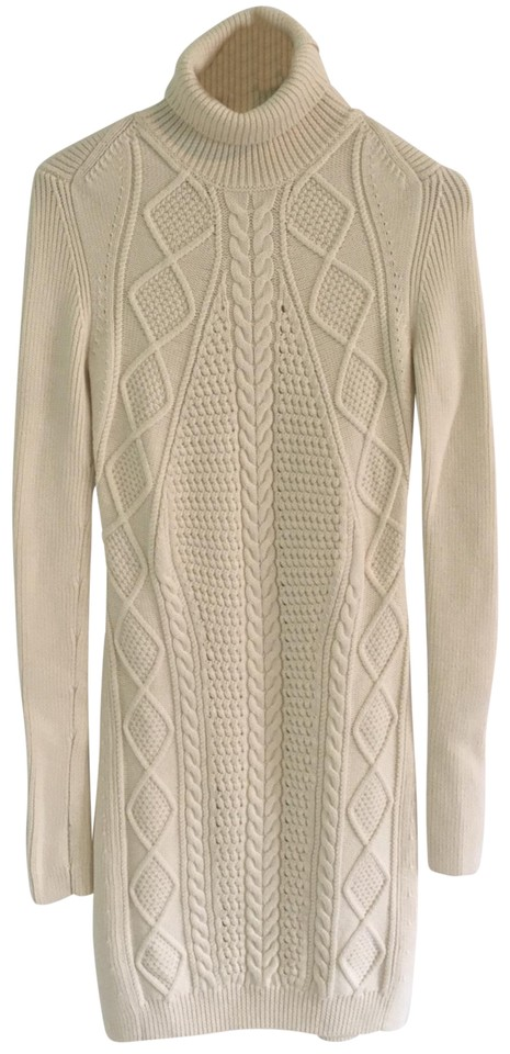 2077148b753 MCQ by Alexander McQueen Cable Knit Turtleneck Sweater Short Casual Dress