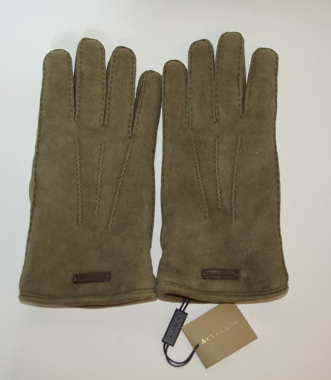 Burberry NWT BURBERRY SHEARLING LINED SUEDE LEATHER GLOVES Image 1