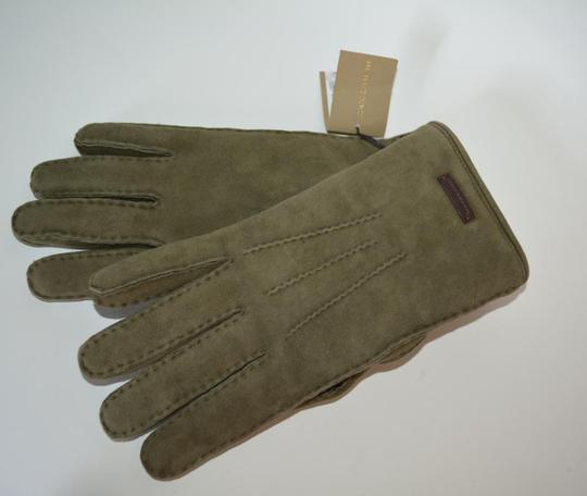 Burberry NWT BURBERRY SHEARLING LINED SUEDE LEATHER GLOVES Image 3