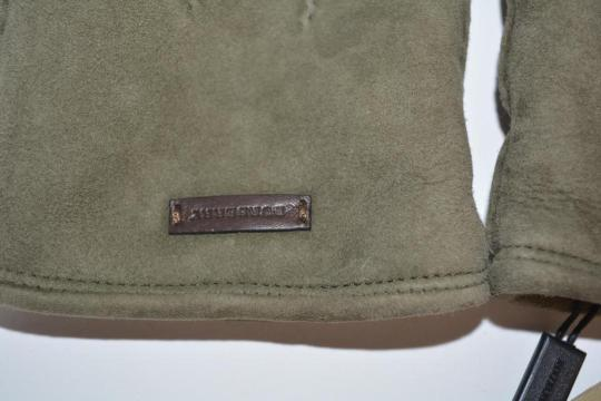 Burberry NWT BURBERRY SHEARLING LINED SUEDE LEATHER GLOVES Image 5