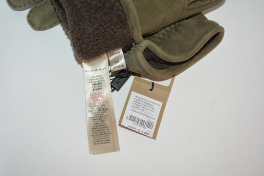 Burberry NWT BURBERRY SHEARLING LINED SUEDE LEATHER GLOVES Image 7