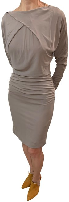 Item - Cream/Gray Mid-length Formal Dress Size 2 (XS)
