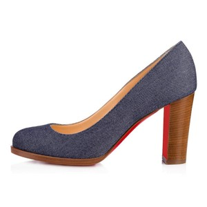 Christian Louboutin Heels London Denim Blue Pumps