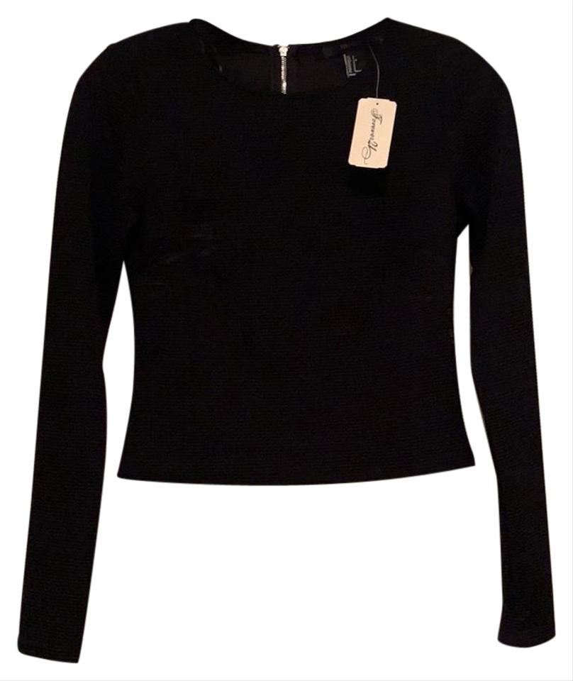 82d1be2cc7 Forever 21 Cropped Black Sweater - Tradesy