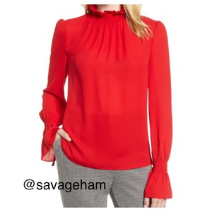 Vince Camuto Top Radiant red