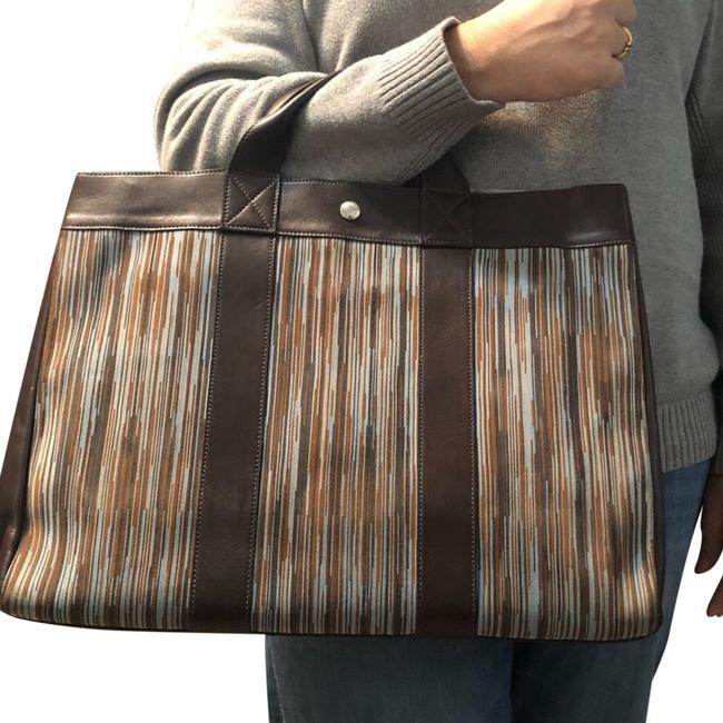 Item - Fourre Tout Mm Brown and Multi-color Leather Vibrato Leather Tote