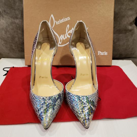 separation shoes 4e23b 4330d Christian Louboutin Multicolor Iriza 100 Snakeskin Unicorn D'orsay Pumps  Size EU 37.5 (Approx. US 7.5) Regular (M, B) 41% off retail