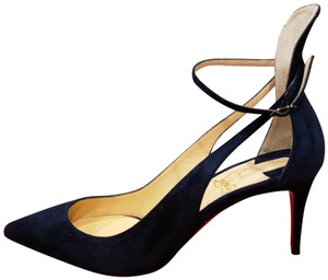 Christian Louboutin Crisscross Sandals Pointed Toe Mascara Marine (Navy Blue) Pumps