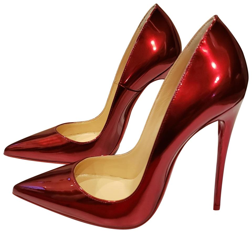 f52e2125066 Christian Louboutin Loubi (Red) So Kate 120 Metal Patent Leather Stiletto  Pumps Size EU 36 (Approx. US 6) Regular (M, B) 21% off retail
