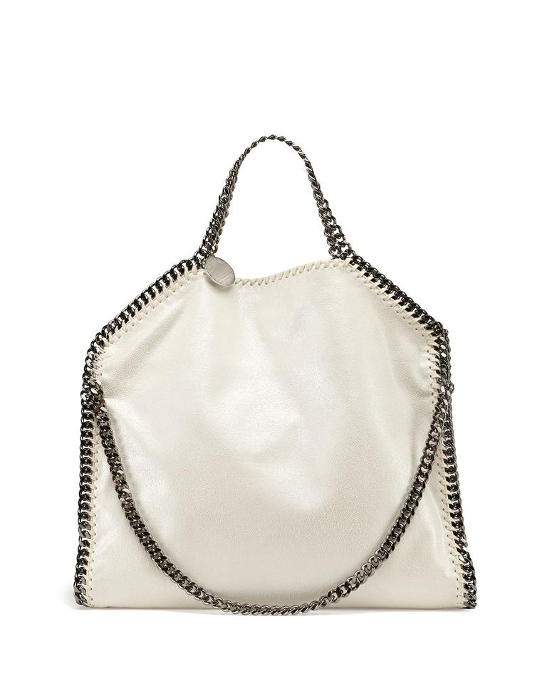 cf0c7687f9 Stella McCartney Falabella Small Fold-over Tote White Faux Leather Shoulder  Bag
