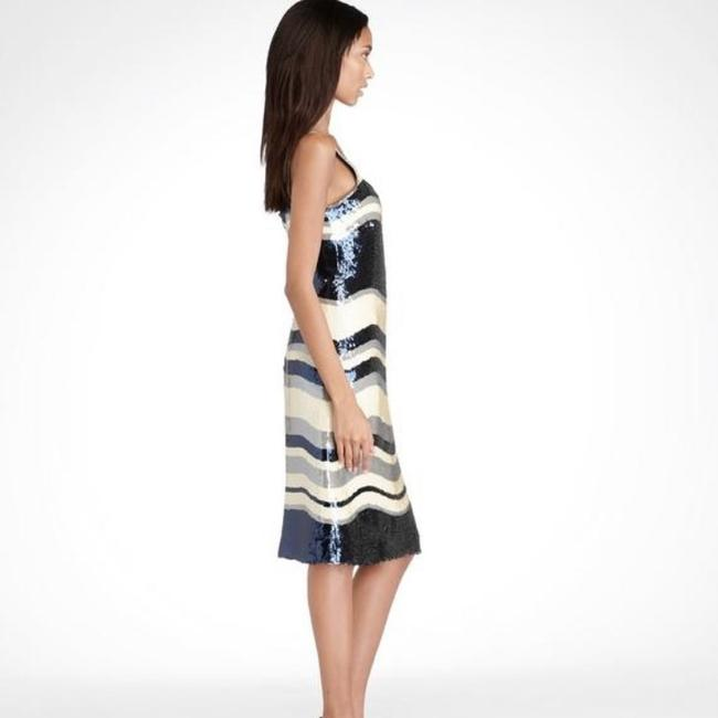 Tory Burch Navy Blue/White Nautical Edna Sequin Stripe Mid-length Cocktail Dress Size 2 (XS) Tory Burch Navy Blue/White Nautical Edna Sequin Stripe Mid-length Cocktail Dress Size 2 (XS) Image 3
