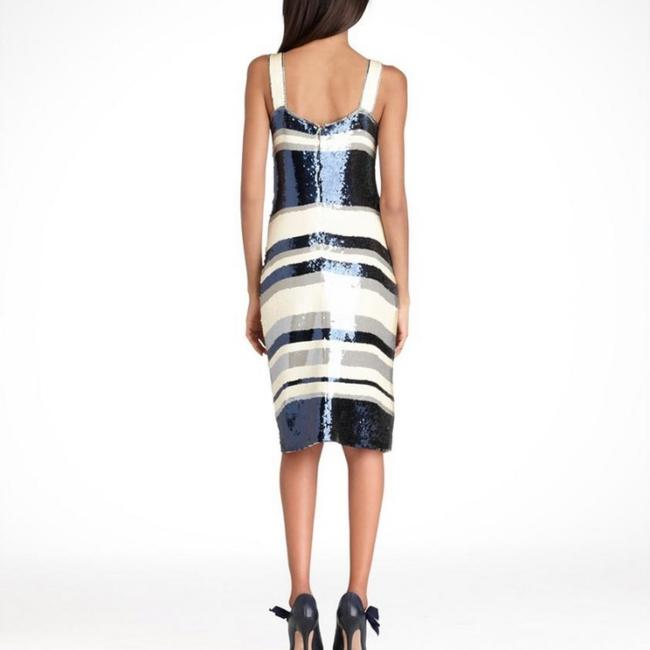 Tory Burch Navy Blue/White Nautical Edna Sequin Stripe Mid-length Cocktail Dress Size 2 (XS) Tory Burch Navy Blue/White Nautical Edna Sequin Stripe Mid-length Cocktail Dress Size 2 (XS) Image 4