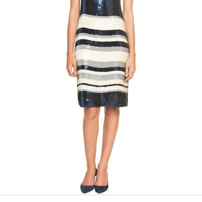 Tory Burch Navy Blue/White Nautical Edna Sequin Stripe Mid-length Cocktail Dress Size 2 (XS) Tory Burch Navy Blue/White Nautical Edna Sequin Stripe Mid-length Cocktail Dress Size 2 (XS) Image 5