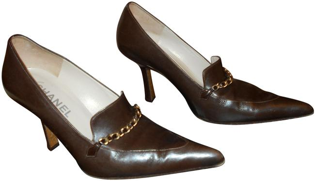 Item - Brown with The Classic Chain Pumps Size EU 38 (Approx. US 8) Wide (C, D)