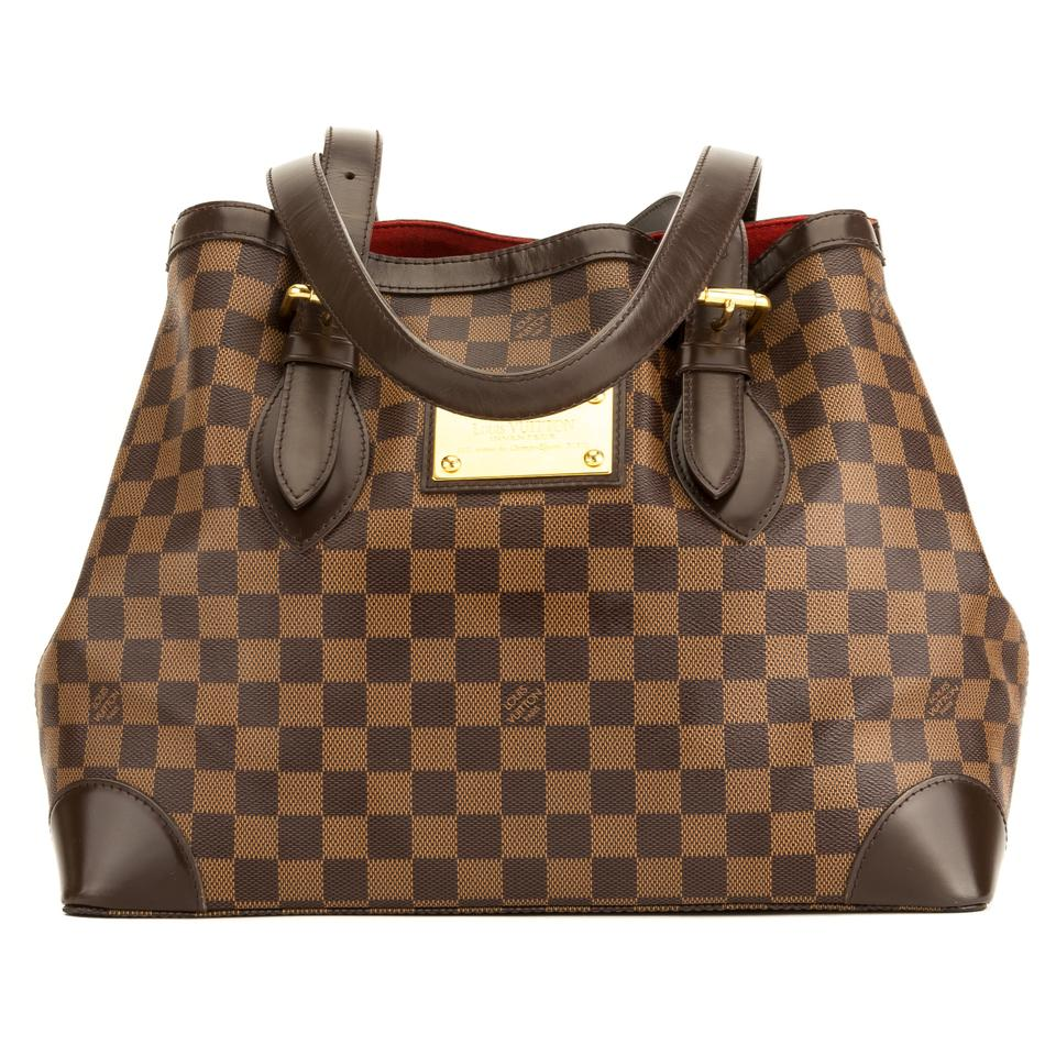 1077d7aeb5ec Louis Vuitton Hampstead Mm 4017018 Brown Damier Ebene Tote - Tradesy