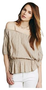 Free People Shades Of Cool Sz M Chai Color Adorable Top