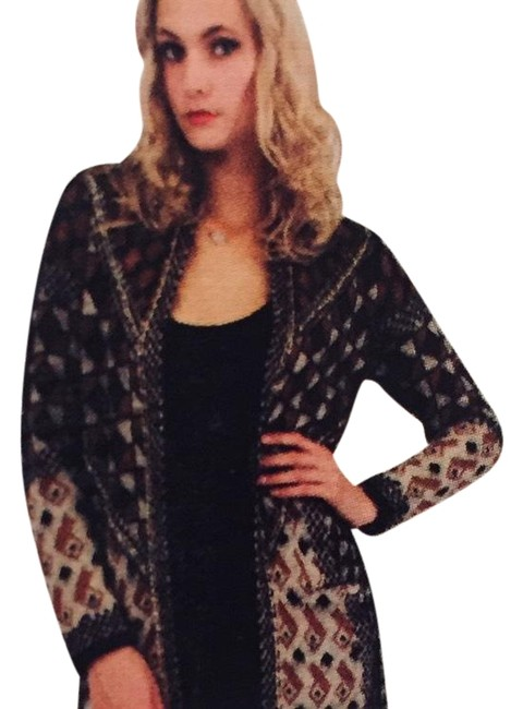 Item - Size Large Geometric/Aztec Print Black/Gray/Burgandy/Gold Black Gray Burgandy Gold Sweater