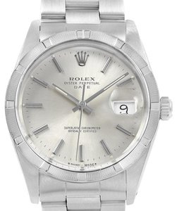 Rolex Rolex Date Stainless Steel Silver Dial Vintage Mens Watch 15010
