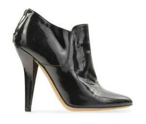 Jimmy Choo Patent Ankle Leather Black Boots