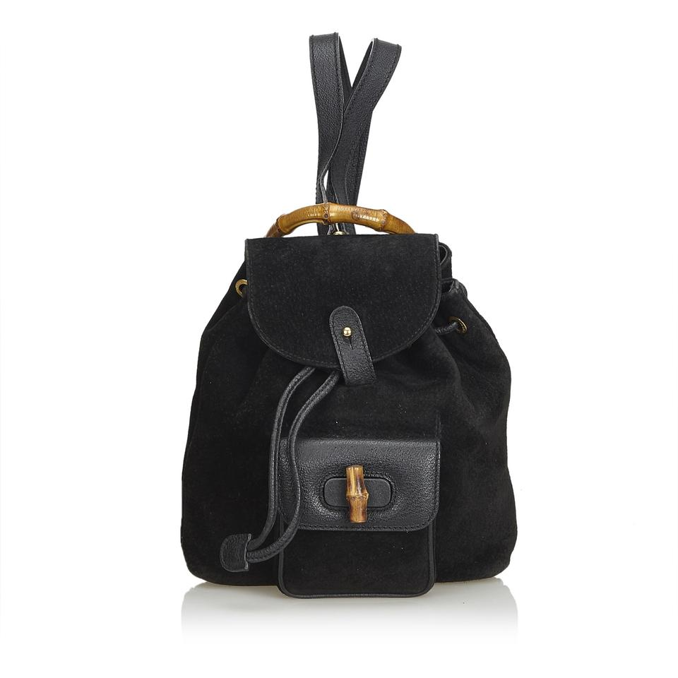 d9cc5f5ba4cf Gucci Mini Bamboo Black Leather X Suede X Leather X Others Backpack ...
