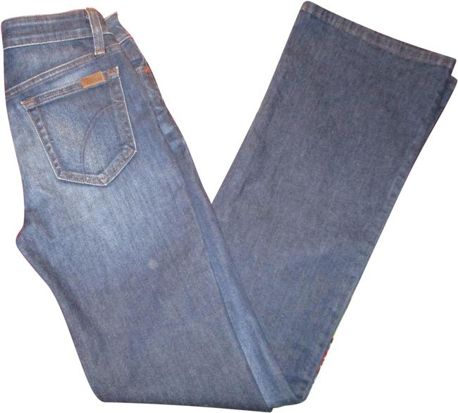 Item - Blue Dark Rinse Flawless The Honey Curvy Boot Cut Jeans Size 24 (0, XS)