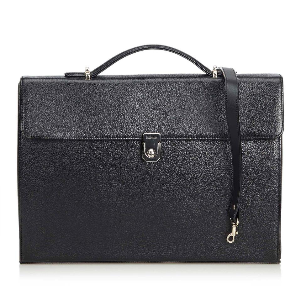 fdcc3d43f65 Burberry Briefcase United Kingdom Medium Black Leather X Others ...