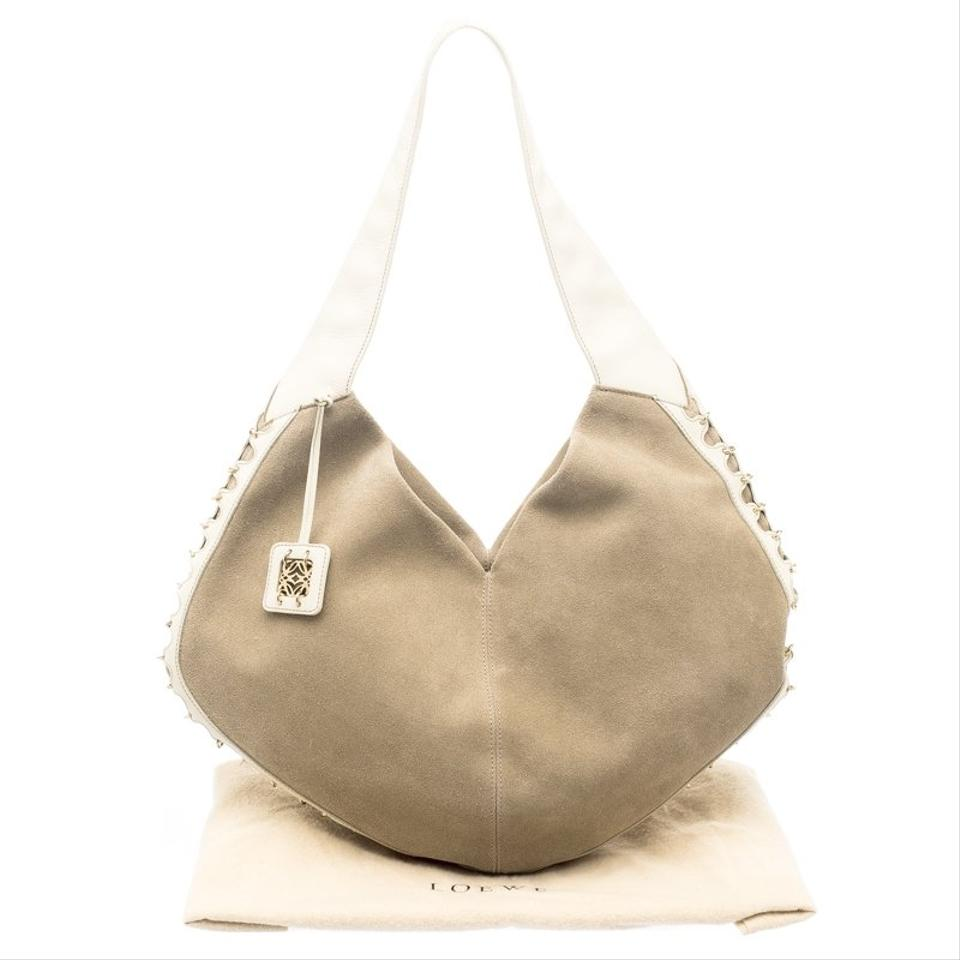 d1aeb672cd Loewe Beige Cream Beige Leather and Suede Hobo Bag - Tradesy