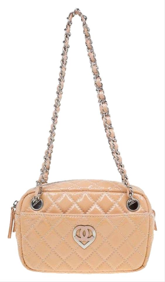 e201013c8d5a Chanel Camera Quilted Valentine Collection Case B Beige Patent ...