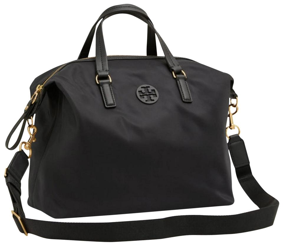 faed616c4d Tory Burch Shoulder Bag New Slouchy Satchel Black Nylon Tote - Tradesy