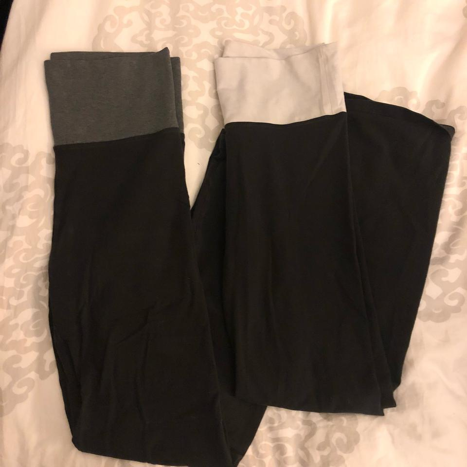 a2aa411d4ad3f4 Victoria's Secret 2 Pairs Fold Over Yoga Pants Activewear Bottoms ...