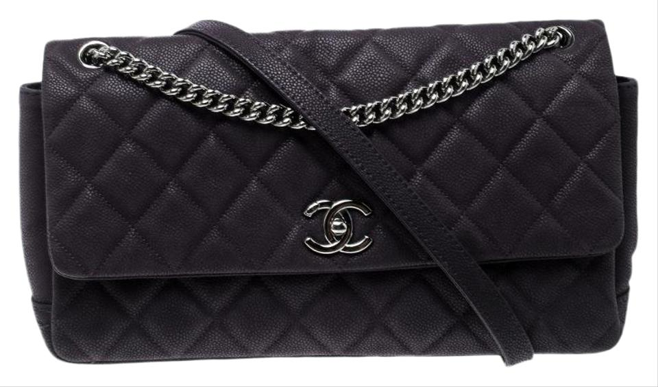 d3efff8f4bfb Chanel Classic Flap Matte Quilted Caviar Medium Lady Pearly Purple ...