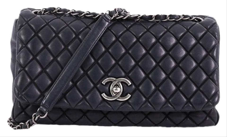 d82a955165ec Chanel Classic Flap New Bubble Quilted Iridescent Large Black ...