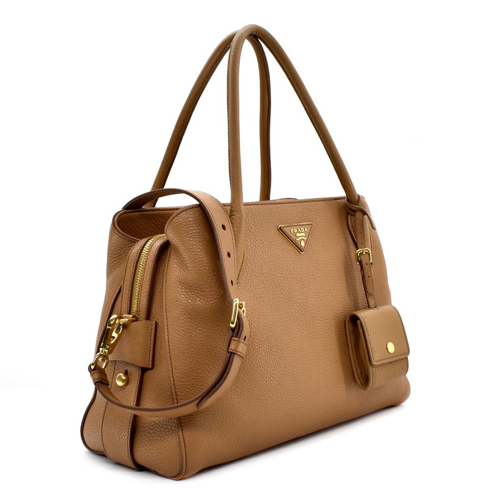 eda923e24d03dd Prada Vitello Daino Tote Caramel Leather Shoulder Bag - Tradesy