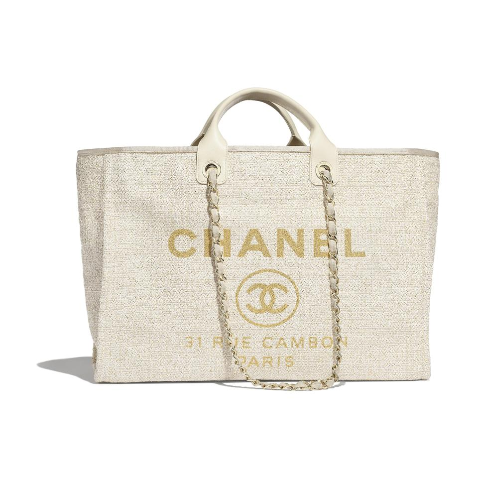 9e830c2fb18693 Chanel Grand Shopper Classic Quilted Cc Maxi Tote in Gold/Ivory Image 0 ...
