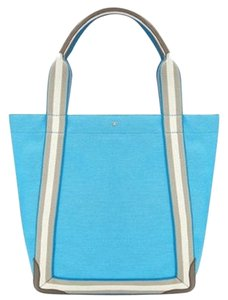 Anya Hindmarch New Canvas Leather Trim Tote in blue
