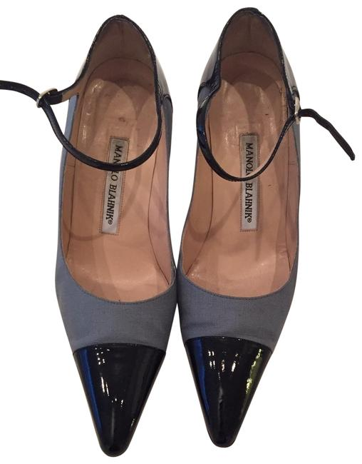 Item - Black Mary Jane with Patent Toe Formal Shoes Size US 5.5 Regular (M, B)