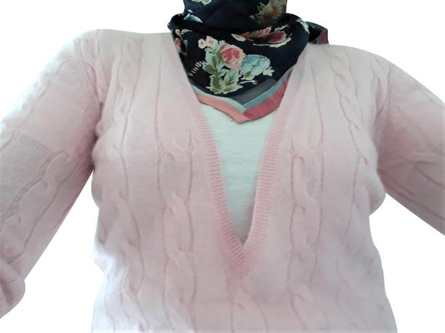 Item - Long Cable Knit Cashmere Pink Sweater