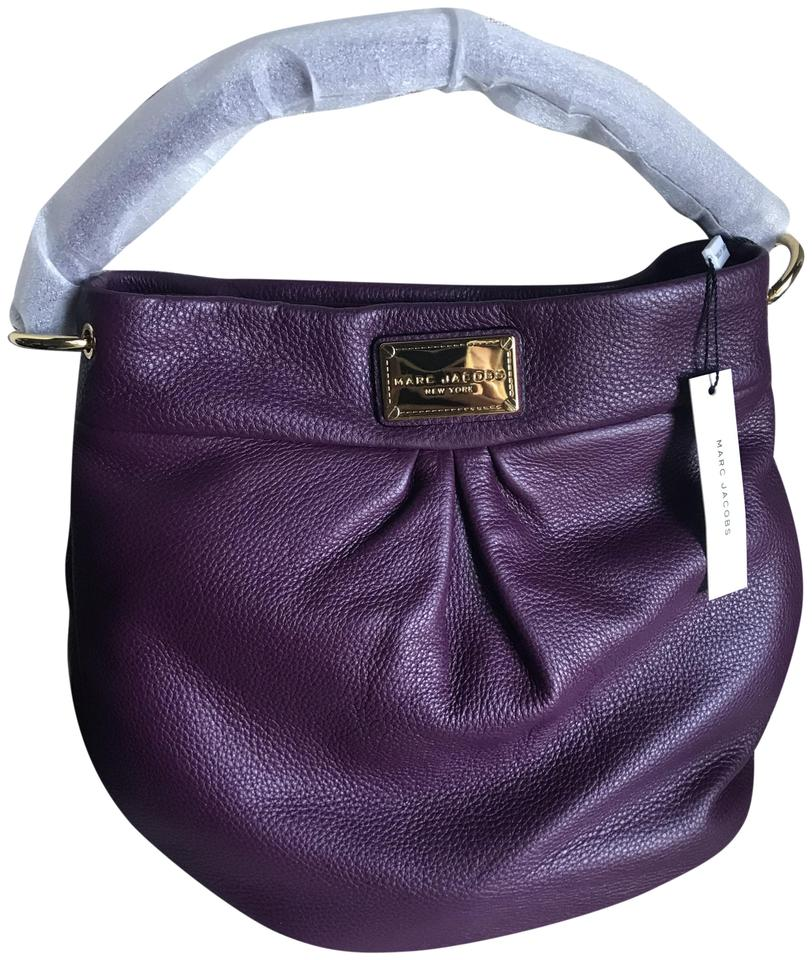 7b3210e80be6 Marc by Marc Jacobs Classic Q Hillier Aubergine Leather Hobo Bag ...