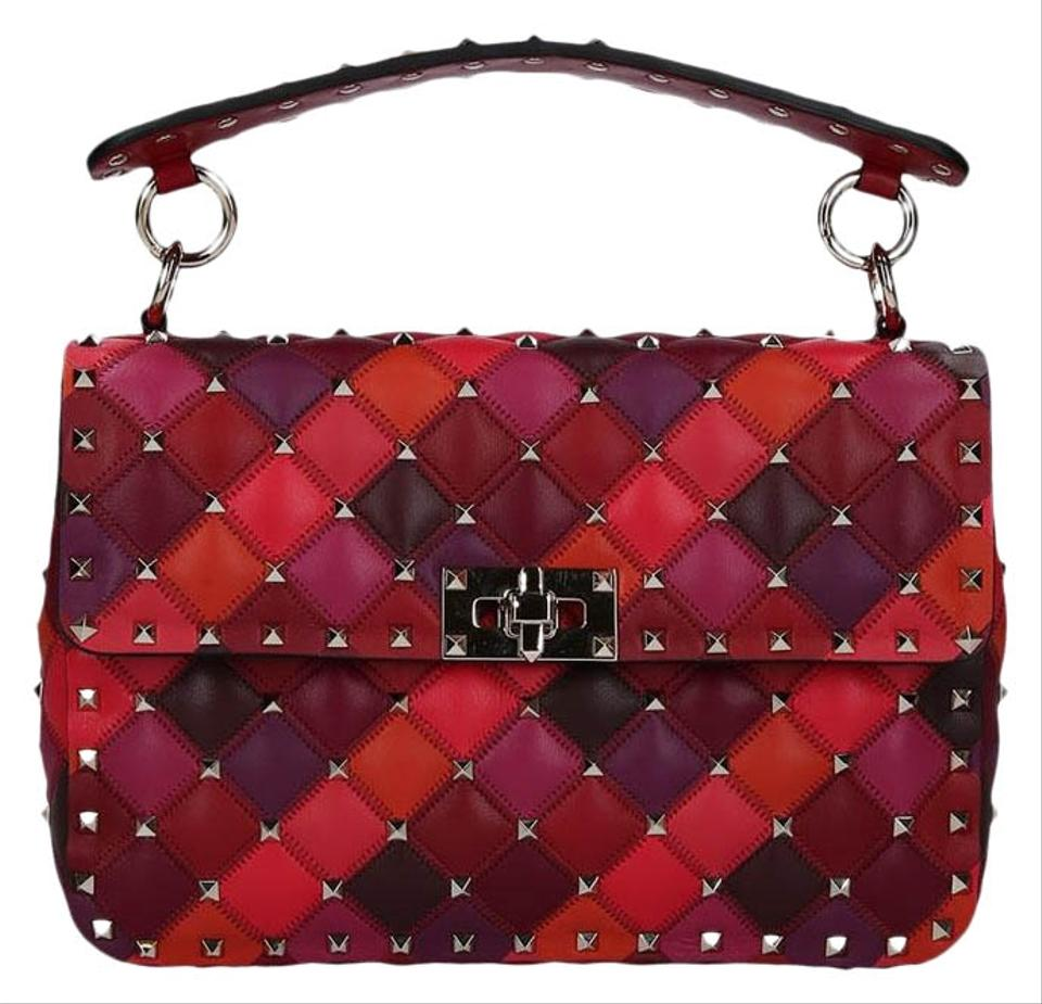 80a5baeccc Valentino Rockstud Medium Spike.it Multicolor Leather Shoulder Bag ...