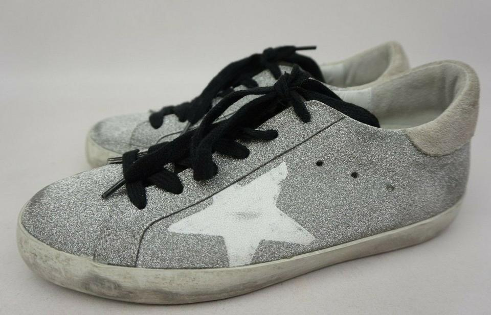 45f9138100749 Golden Goose Deluxe Brand Silver Superstar Glitter Lace-up Women's Sneakers  Size EU 36 (Approx. US 6) Regular (M, B) - Tradesy